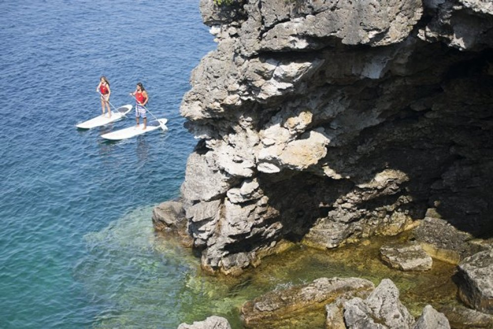 Stand up paddling at Indian Head Cove